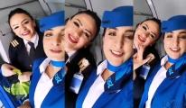 video Bugun İstanbul uçuşunda ekip güzel