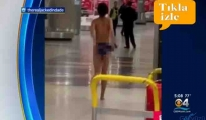 video Havalimanında Çırılçıplak soyundu!