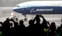 video Krizdeki uçak devi Boeing 777X'in ilk deneme uçuşu!