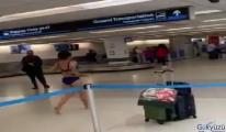 video Miami Havalimanı'nda fazla bagaj krizi!