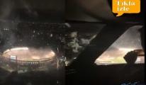 video Pilotlar futbol maçını kameraya aldı!