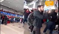 video Terör destekçileri THY kontuarını işgal etti!