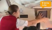 video THY uçağı havalandıktan 2dk sonra bunlar yaşandı