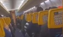video Türbülansa giren uçakta panik anları