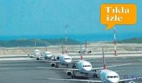 video Uçaklar mecburen Çorlu'ya yönlendiriliyor!