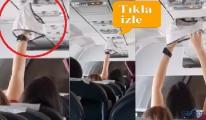 video Uçakta Kadın külodunu çıkarıp kuruttu!