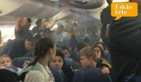 video Uçakta panik anları!