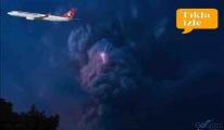 video Yanardağı patlaması THY uçuşları durdurdu!