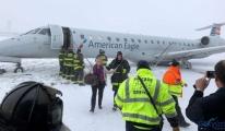 video Yolcu Uçağı kayarak Pistten Çıktı