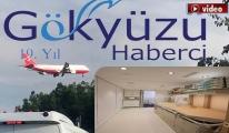 VIP uçakta küçük bir hastane de var!video