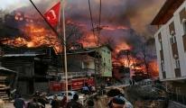 Yanan köyden çağrı: Yardımlar bize yetti(video)