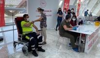 YHT Garı'nda yolculara Covid-19 aşısı
