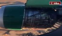 Yolcu havada bu görüntüleri çekti!video