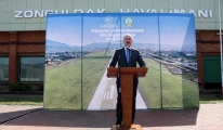 Çaycuma Havalimanı'nın pisti büyütüldü#video