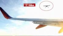 ABD semalarında Yolcu uçağı faciadan dönüldü video