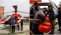 Yolcu uçağı pistteki helikoptere çarptı!