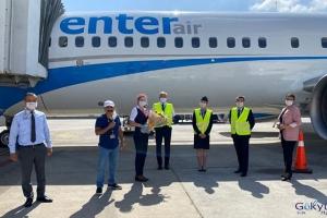 Enter Air Antalya Havalimanına indi!(video)