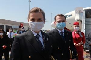 video THY 19 Mayıs özel uçağı Samsun'a indi