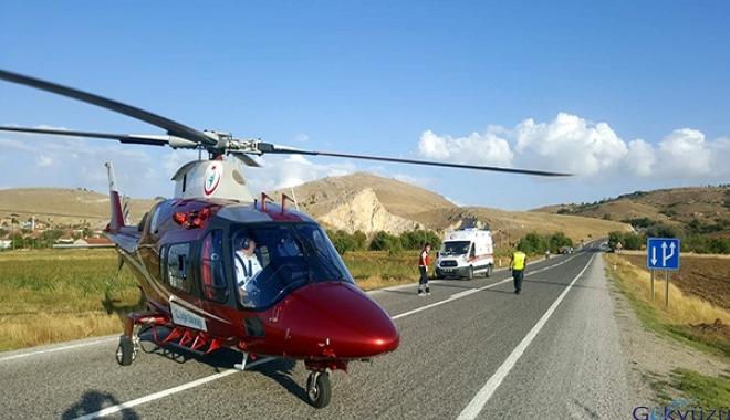 3 kişi ambulans helikopter ile hastaneye kaldırıldı