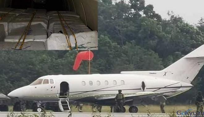 72 milyon dolarlık uyuşturucu taşıyan jet!
