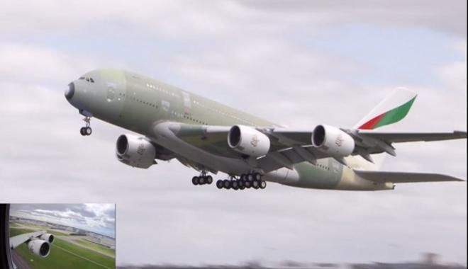 #A380 kanat dalgası gerçekleştiriyor(video)