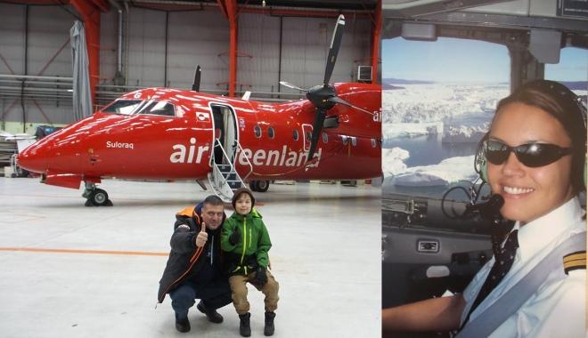 #Air Grönland uçağı, Maniitsoq havaalanı'na iniş(video)