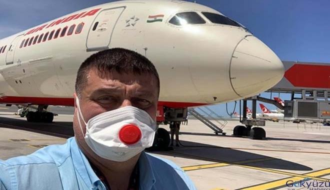 Aır Indıa uçağı İstanbul Havalimanı'na geldi