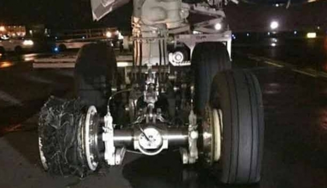 Airbus 350 Tipi Uçağın İnişte Lastiği Patladı