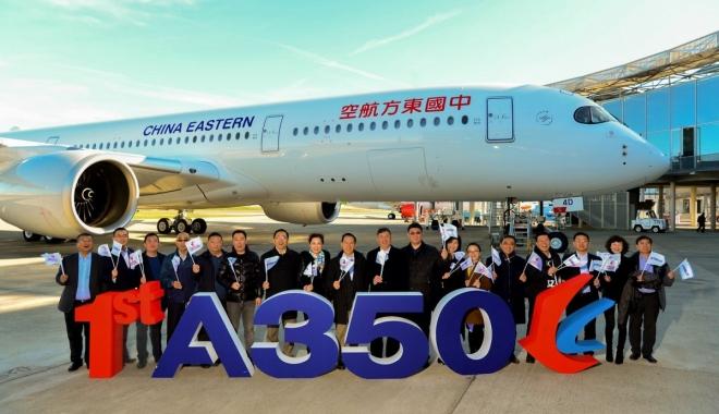 Airbus, Çin'de yaptığı ilk A350 uçağını teslim etti
