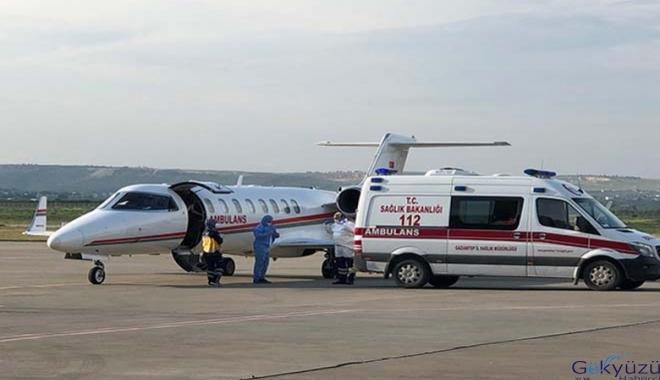 Ambulans uçak Emel için havalandı