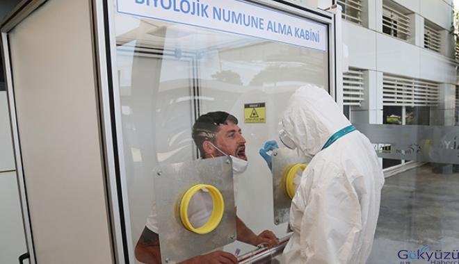 Antalya Havalimanı'nda 3100 kişi Covid-19 testi yaptırdı