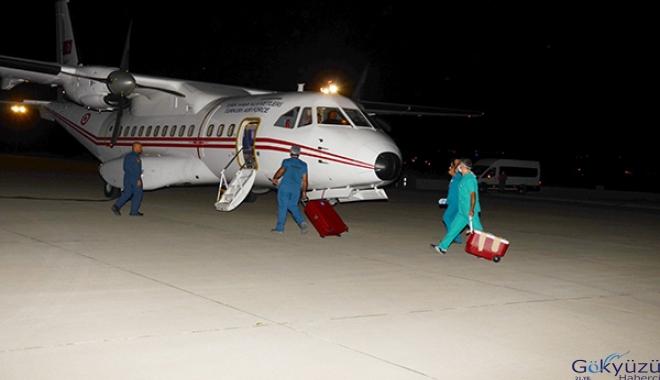 Askeri uçakla, Batman'dan Ankara ve Malatya'ya organ nakli