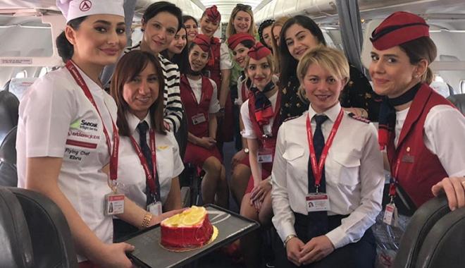 Atlasglobal Havayolları, kadınlarla gökyüzünü fethetti