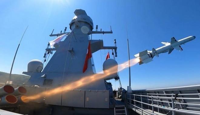 ATMACA Gemisavar Füzesi ilk kez gemi vurdu!video