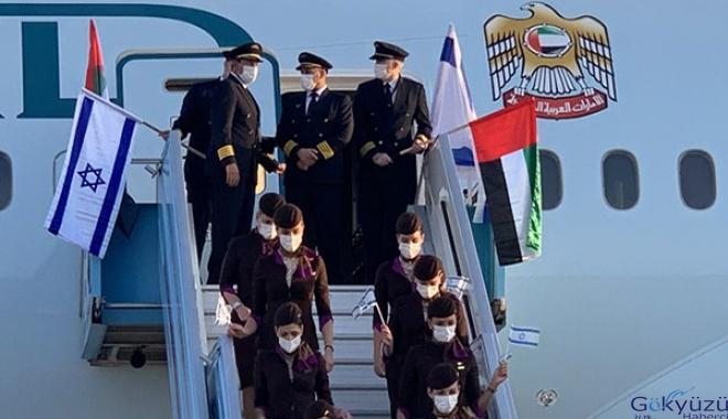BAE İsrail'e ilk ticari uçuş gerçekleştirildi