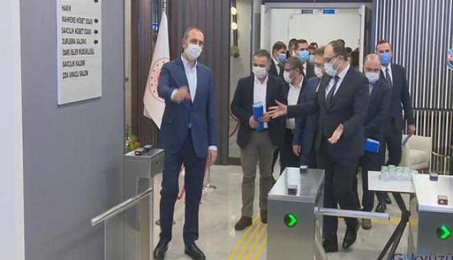 Bakan Gül İstanbul Havalimanı Adliyesi'nde(video)
