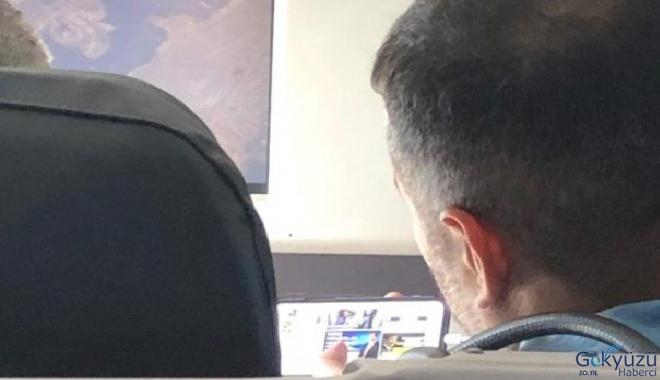 Binali Yıldırım'ın uçaktaki fotoğrafı olay oldu!