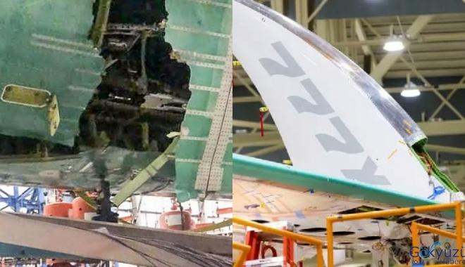 Boeing'de her şey yolunda. Uçak parçalandı
