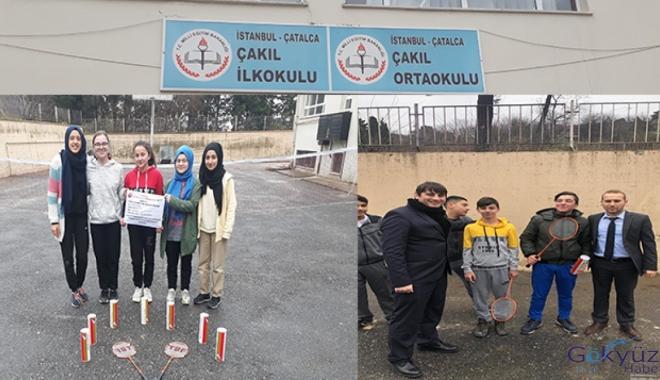 Çatalca Çakıl Ortaokulu'na Badminton desteği!