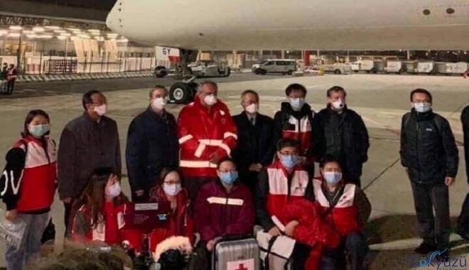 Çin,'den 26 bin ton tıbbi malzeme yardımı