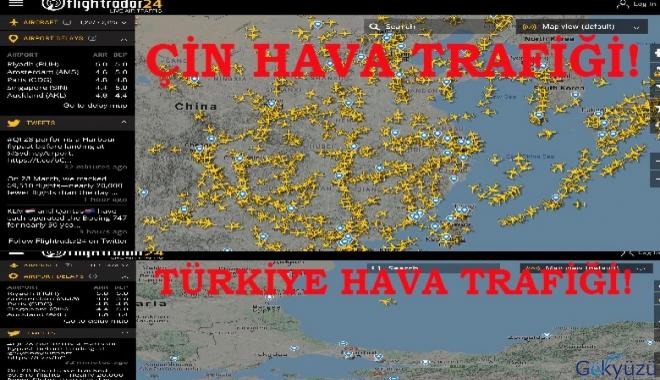 Türkiye'de kuş uçmuyor! Çin Hava trafiği!