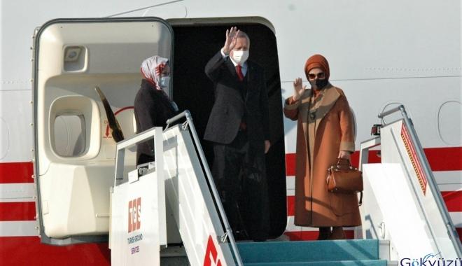 Cumhurbaşkanı Erdoğan Esenboğa Havalimanı'nda