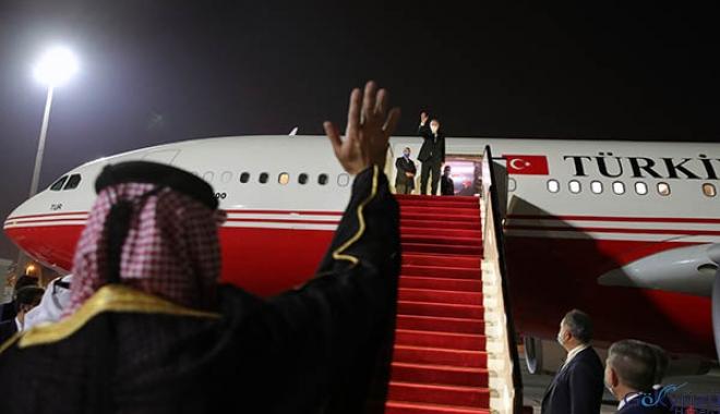 Cumhurbaşkanı Erdoğan, Katar'dan ayrıldı