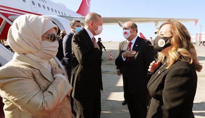 Cumhurbaşkanı Erdoğan KKTC'de(video)