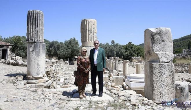 Erdoğan Stratonikeia Antik Kenti'ni ziyaret etti