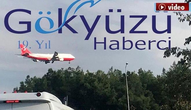 Cumhurbaşkanlığı uçağı Antalya'da!video