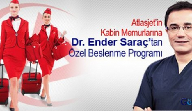 Dr. Saraç'tan AtlasJet'e özel beslenme programı