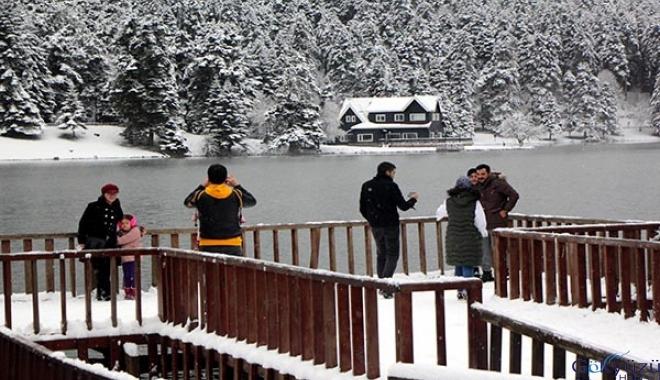 #Dron ile kar manzarası havadan görüntülendi