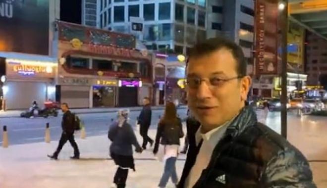 Ekrem İmamoğlu Mecidiyeköy Meydanı'nda gece turu#video