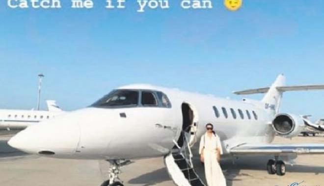 Emir Uyar, sevgilisine özel jetini verdi
